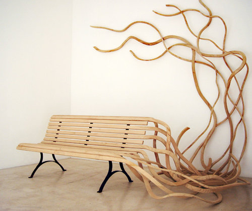 An unusual garden bench | Fine Woodworking Knots