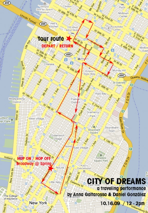 City of Dreams Tour Map